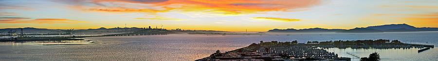 San Francisco Photograph - San Francisco Bay Wide View by Kelley King