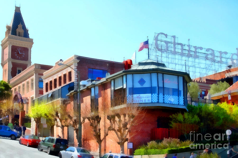San Francisco Photograph - San Francisco Ghirardelli Chocolate Factory . 7d14093 by Wingsdomain Art and Photography