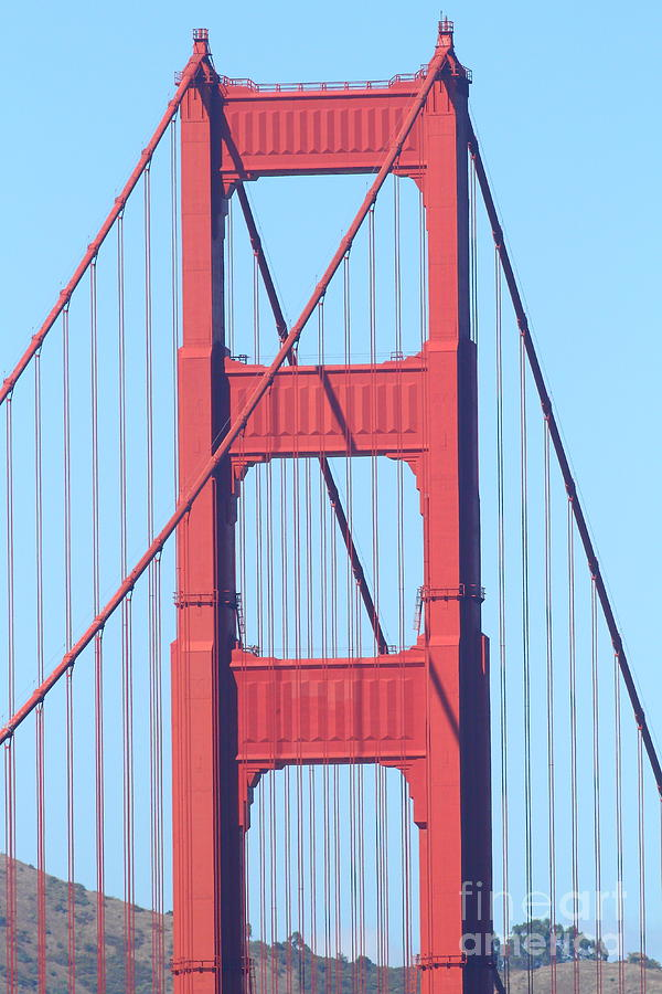 San Francisco Photograph - San Francisco Golden Gate Bridge . 7d7809 by Wingsdomain Art and Photography