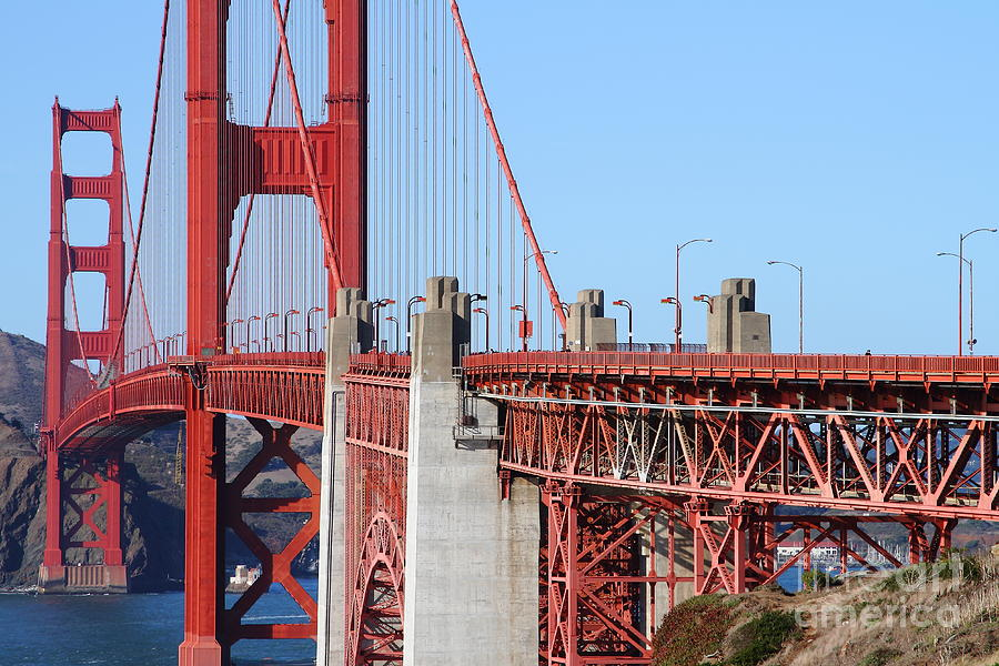 San Francisco Photograph - San Francisco Golden Gate Bridge . 7d8166 by Wingsdomain Art and Photography