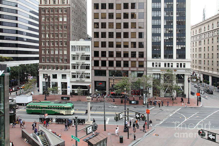 San Francisco Photograph - San Francisco Market Street - 5d17877 by Wingsdomain Art and Photography