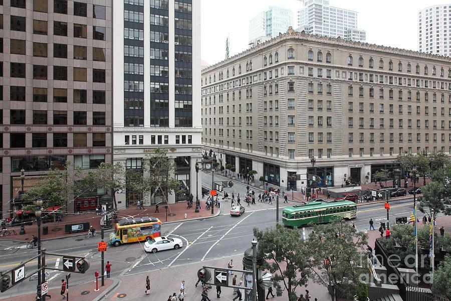 San Francisco Photograph - San Francisco Market Street - 5d17883 by Wingsdomain Art and Photography