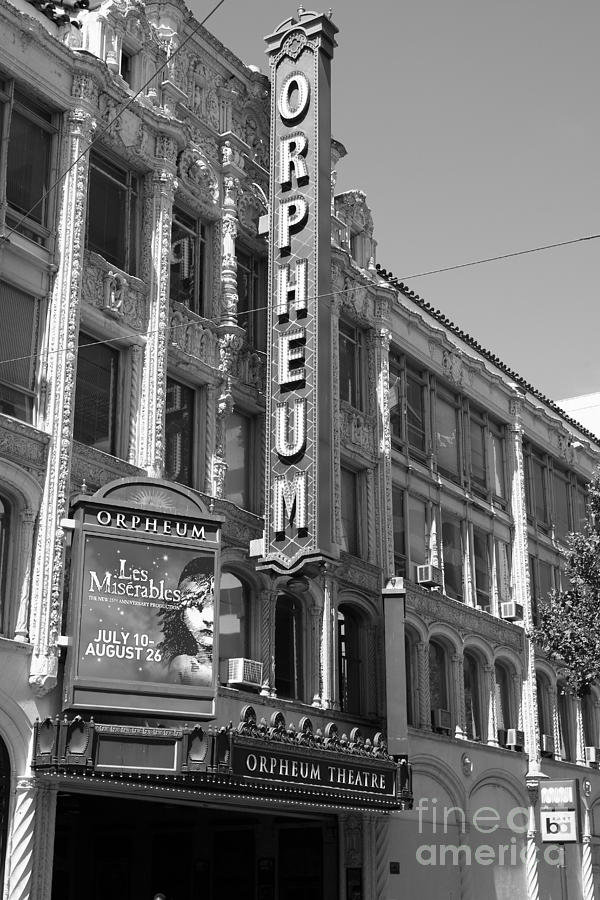 Black And White Photograph - San Francisco Orpheum Theatre - 5d18007 - Black And White by Wingsdomain Art and Photography