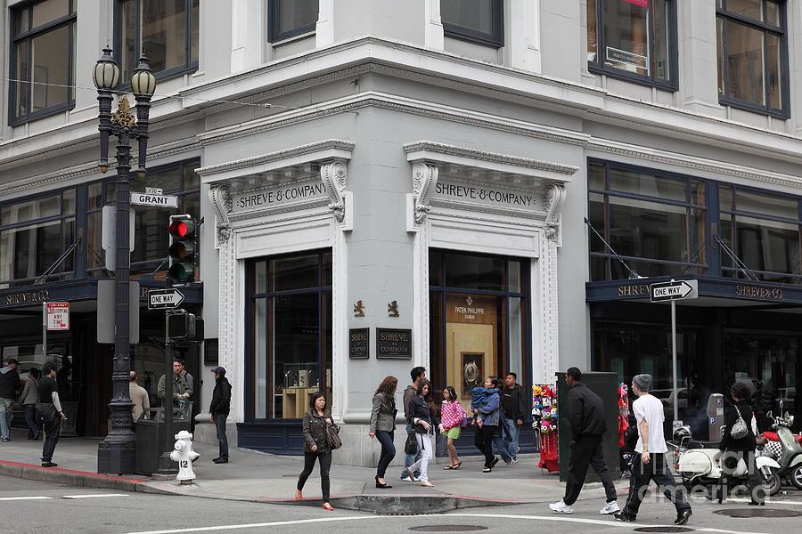 San Francisco Photograph - San Francisco Shreve And Company On Grant Street - 5d17920 by Wingsdomain Art and Photography