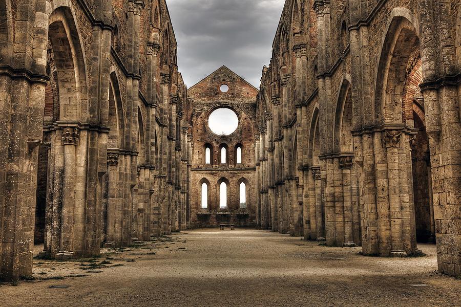 Ruins Photograph - San Galgano  - A Ruin Of An Old Monastery With No Roof by Joana Kruse