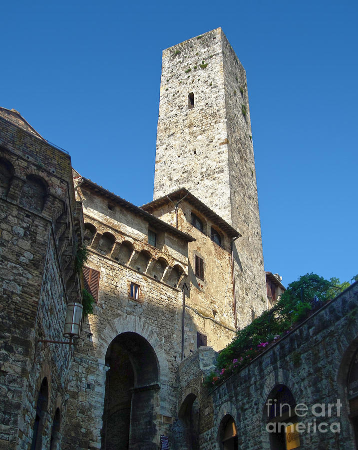 Tower Photograph - San Gimignano Italy by Gregory Dyer