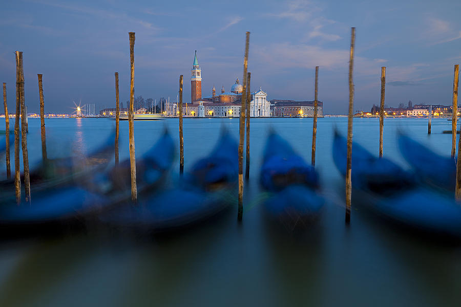 San Giorgio Maggiore with Twilight Sky by Michael Yeager