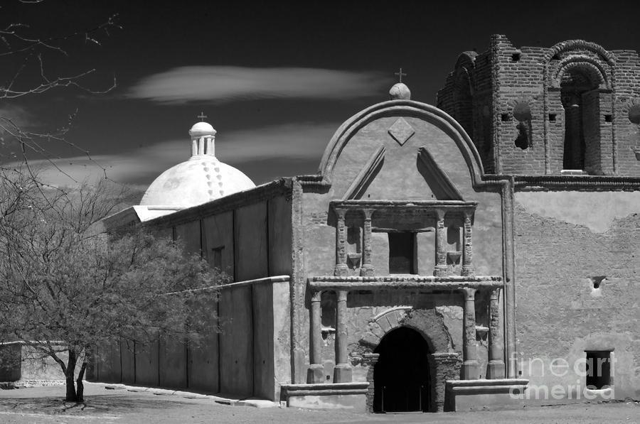 B&w Photograph - San Jose De Tumacacori by Sandra Bronstein