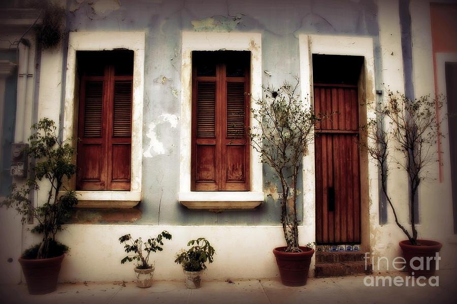 Door Photograph - San Juan Living by Perry Webster