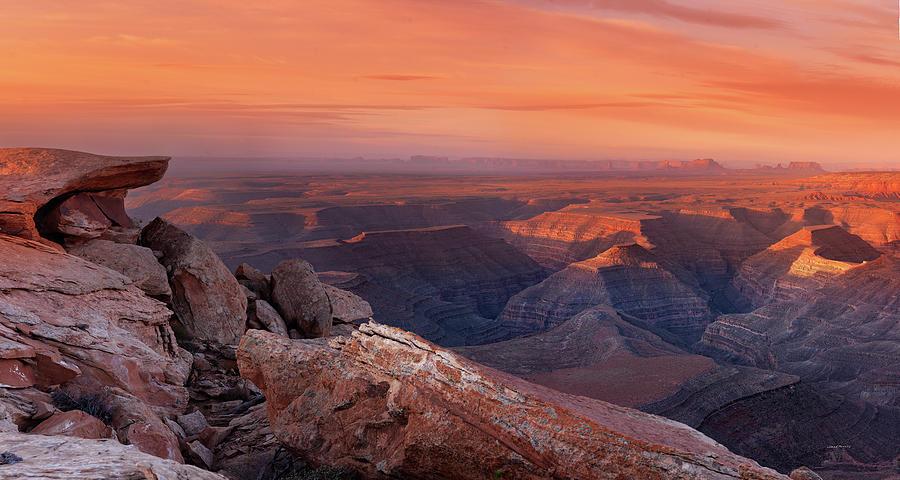 Canyon Photograph - San Juan River Light by Leland D Howard