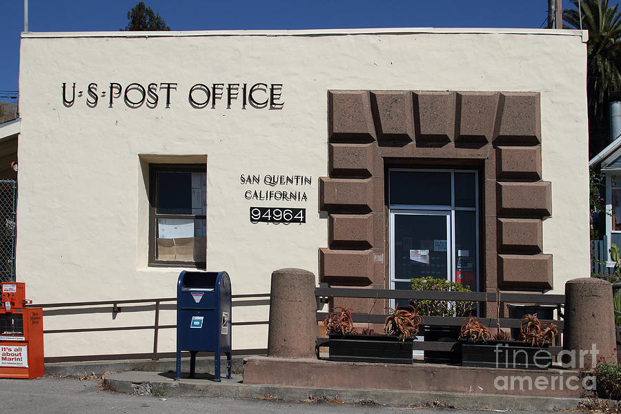 San Francisco Photograph - San Quentin Post Office In California - 7d18549 by Wingsdomain Art and Photography