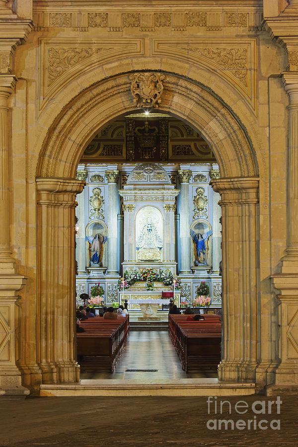 Arch Photograph - Sanctuary Of La Basílica De La Virgen De La Soledad by Jeremy Woodhouse