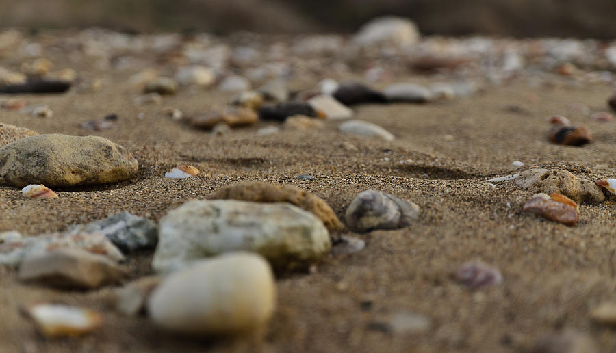 Mediterranean Photograph - Sand and stones by Michael Goyberg