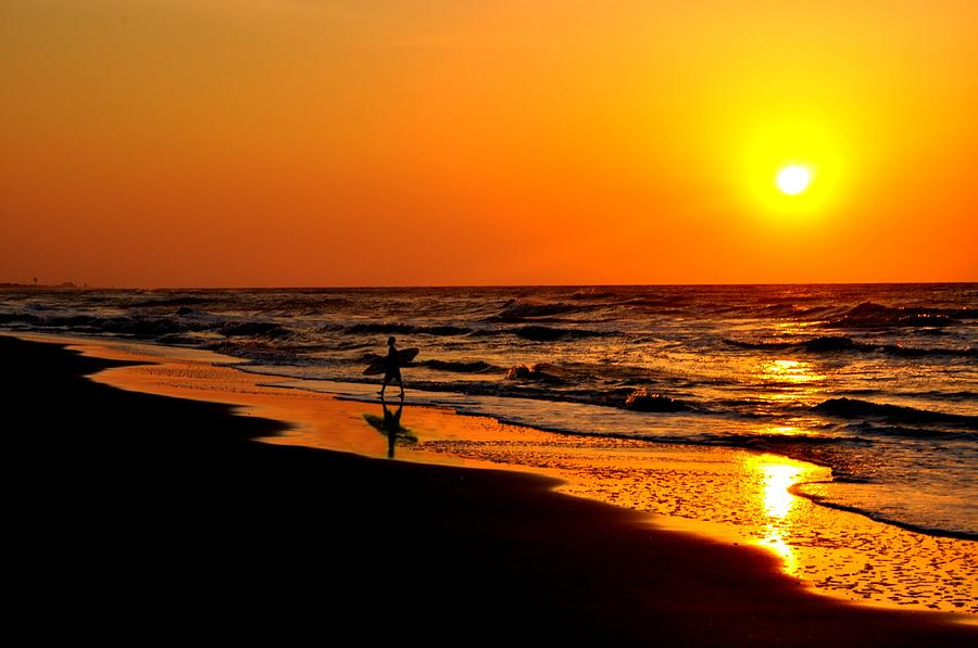 Sunrise Photograph - Sand And The Surf by Emily Stauring