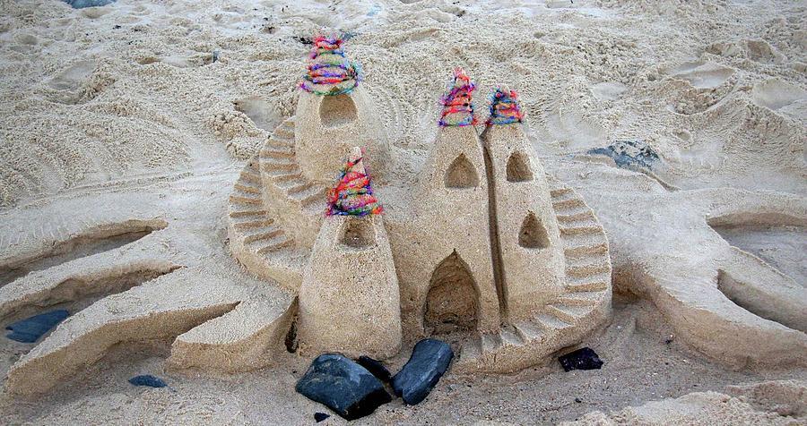 Sand Castle Sculpture - Sand Castle by Karen Elzinga