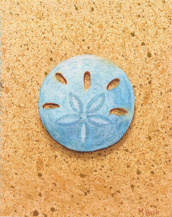 Sand Dollar Painting by Katherine Young-Beck