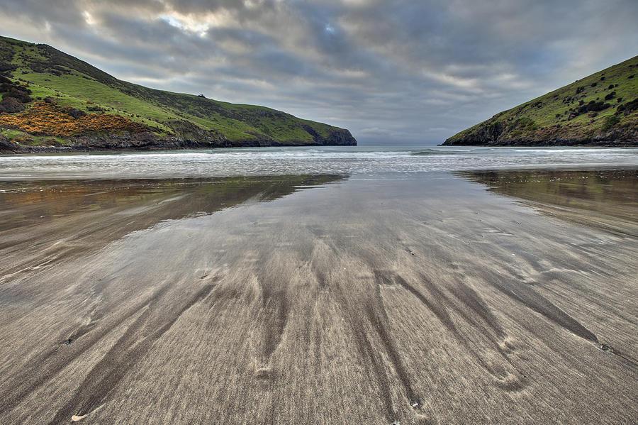 Sand Patterns At Dawn Otanerito Beach Photograph by Colin Monteath