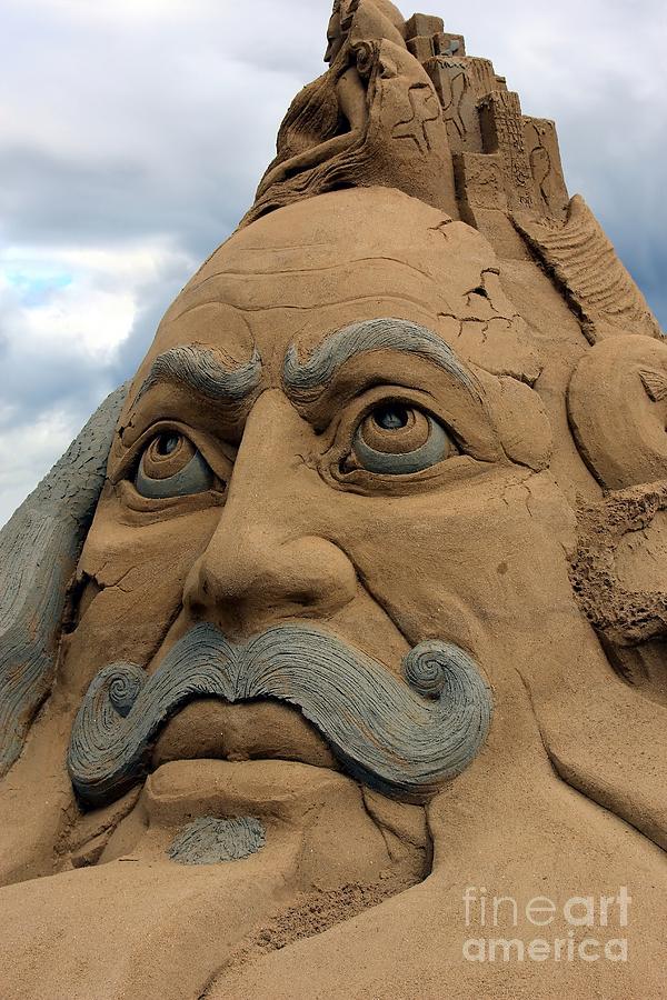 Sand Photograph - Sand Sculpture by Sophie Vigneault