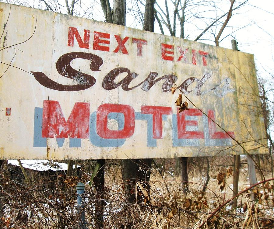 Old Motel Signage Photograph - Sands Motel by Todd Sherlock