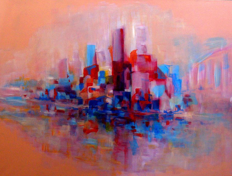 Australian artist painting sandstorm in sydney harbour by giro tavitian