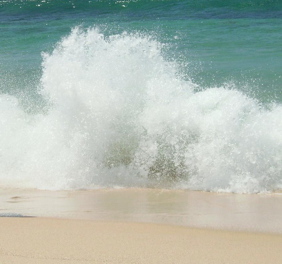 Sandy Beach: Sandy Beach Wave Photograph By Fran Loando
