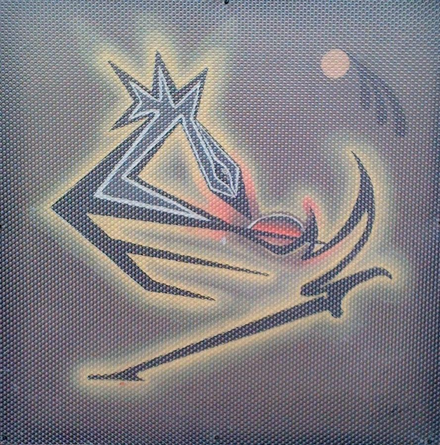 African-american Painting - Sankofa 2011 by Clyde Stallworth Jr
