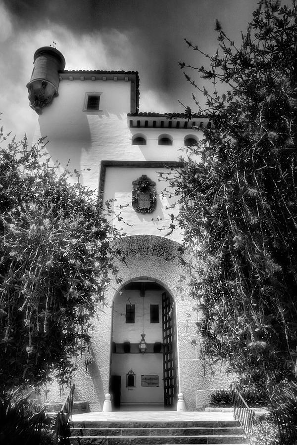 Architecture Photograph - Santa Barbara Courthouse I by Steven Ainsworth