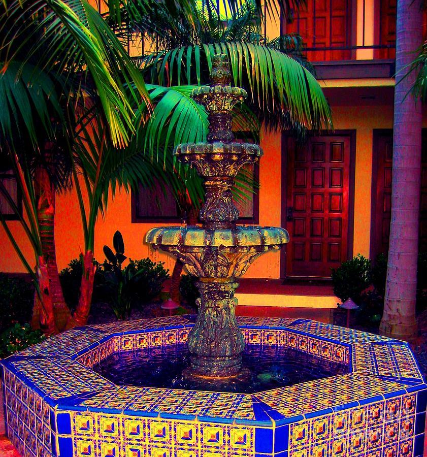 Fountain Photograph - Santa Barbara Fountain by Ann Johndro-Collins