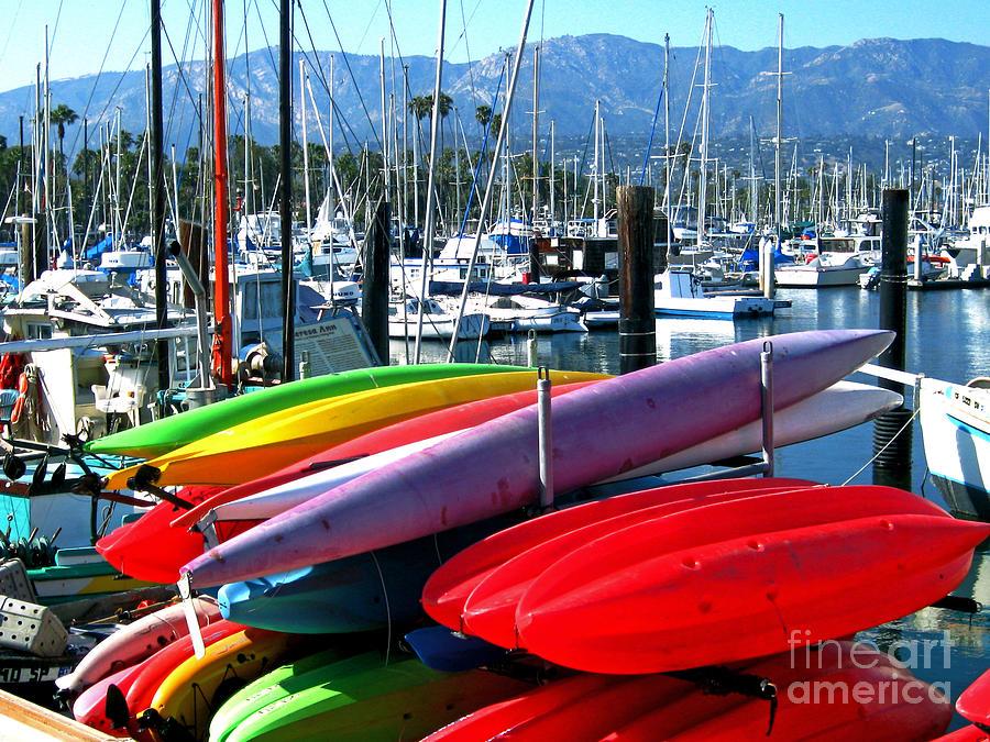 Santa Barbara Photograph - Santa Barbara Harbor by Jerome Stumphauzer