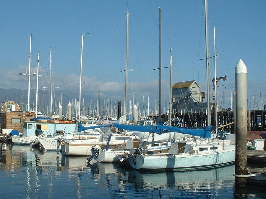 Santa Barbara Photograph - Santa Barbara Marina by Linda Pope