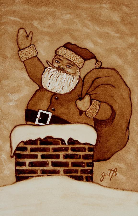 Winter Holidays Painting - Santa Claus Is Coming by Georgeta  Blanaru
