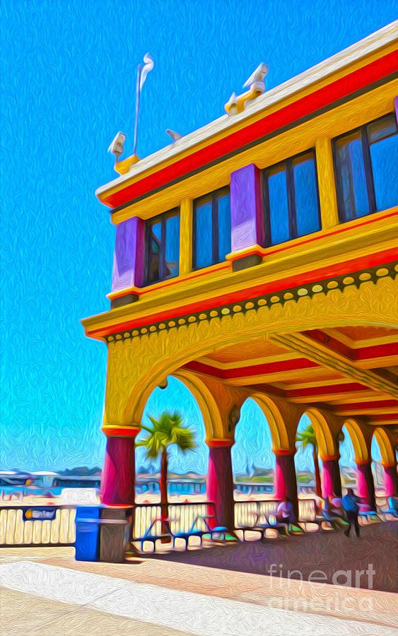 Santa Cruz Boardwalk Painting - Santa Cruz Boardwalk - Arcade -01 by Gregory Dyer