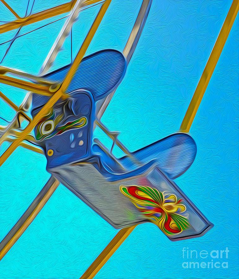 Ferris Wheel Painting - Santa Cruz Boardwalk - Ferris Wheel - 03 by Gregory Dyer