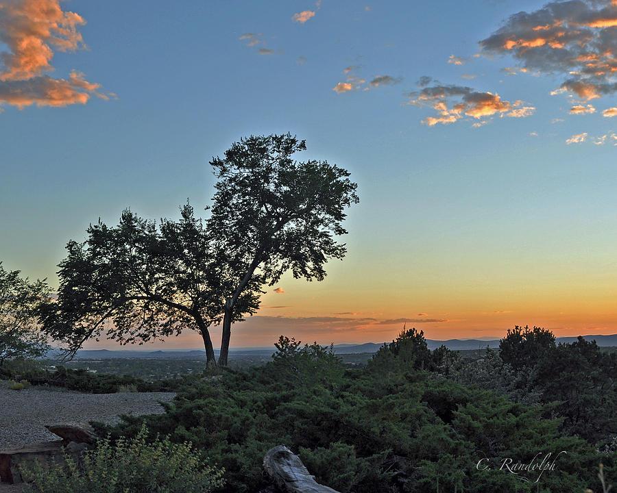 New Mexico Photograph - Santa Fe Sunset by Cheri Randolph