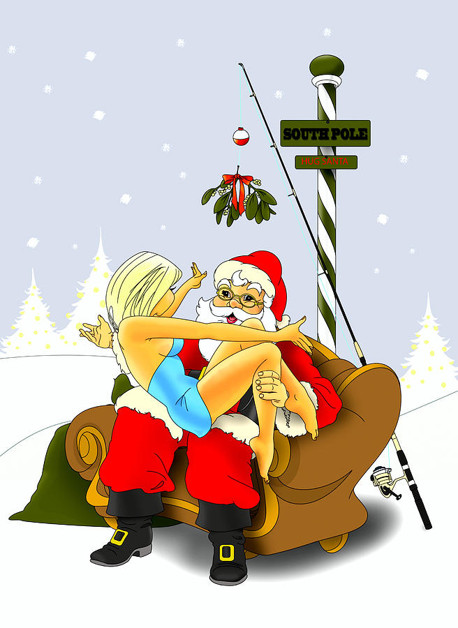Babe Digital Art - Santa Goes South by Lynn Rider