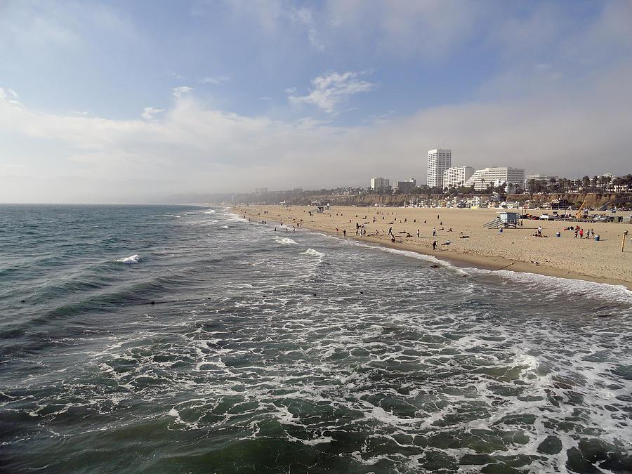 Santa Monica Photograph - Santa Monica Beach by Robert Meyers-Lussier