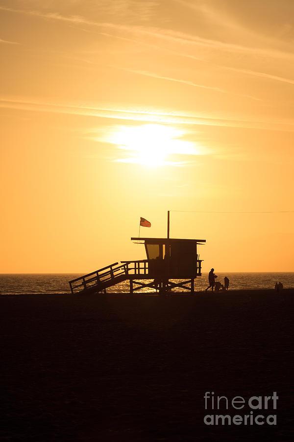 America Photograph - Santa Monica California Sunset Photo by Paul Velgos