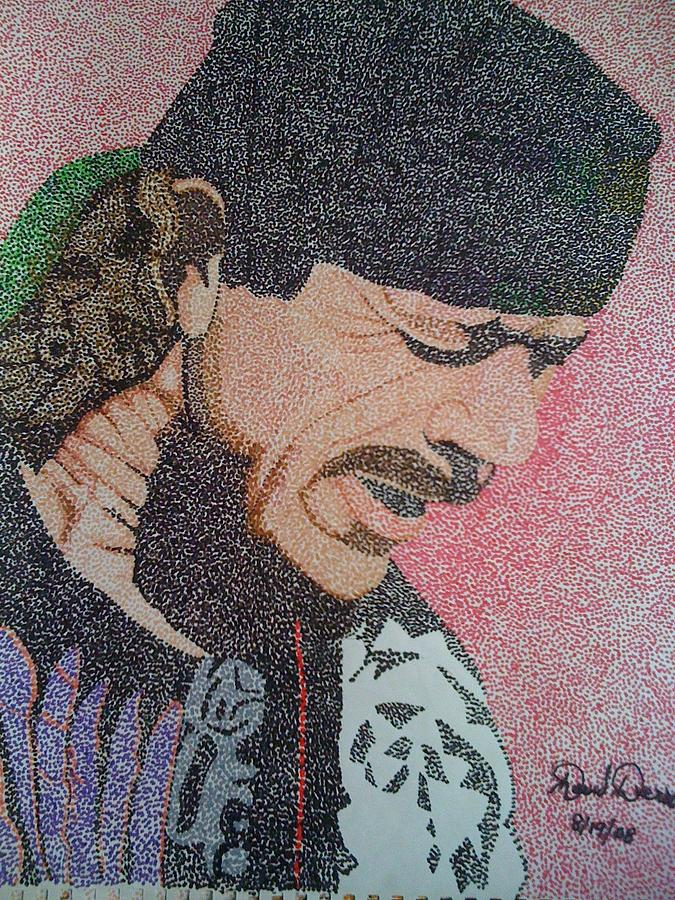 Celebrity Painting - Santana by David Duerson