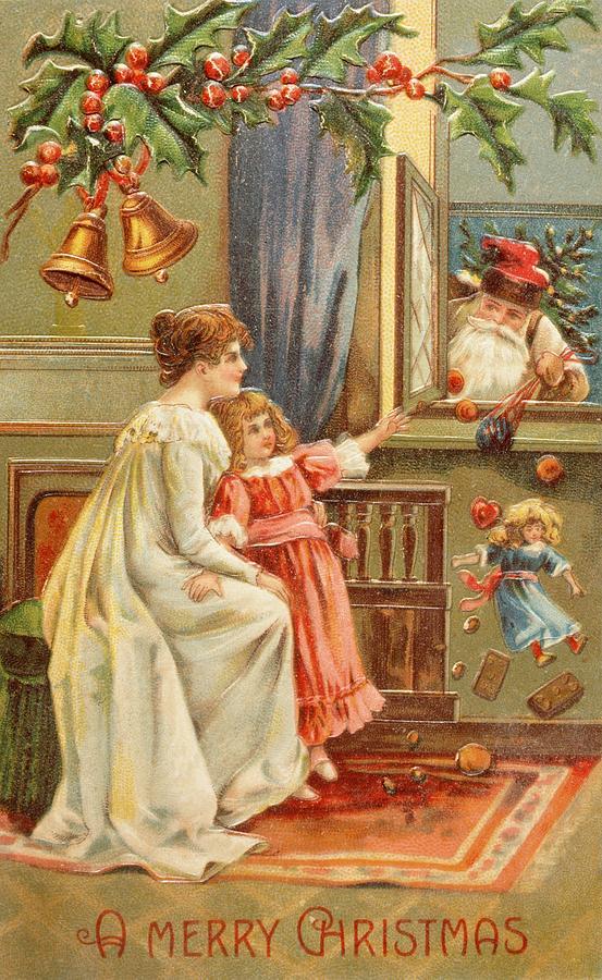 Santa Painting - Santas Gifts by English School