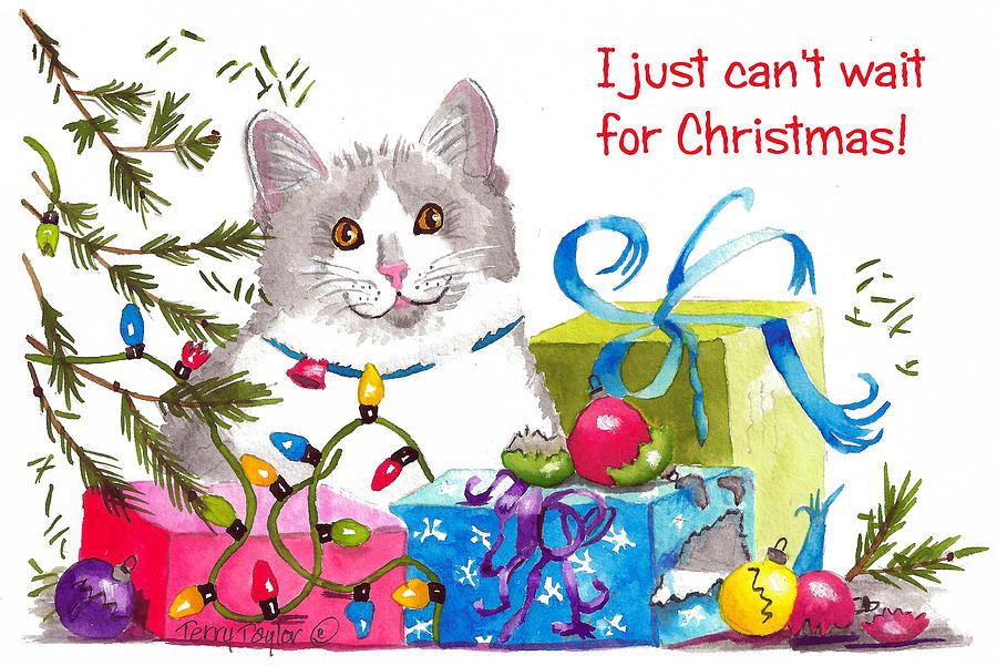 Christmas Painting - Santas Helper Greetings by Terry Taylor