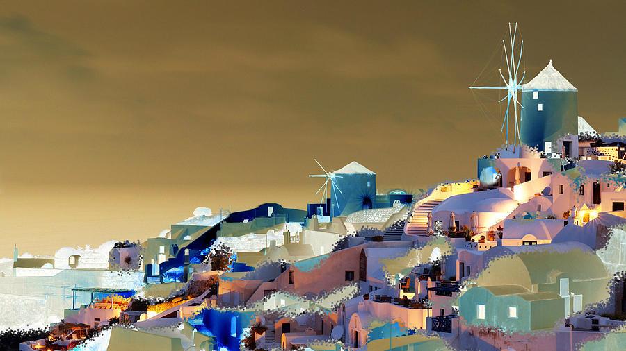 Nature Digital Art - Santorini by Ilias Athanasopoulos