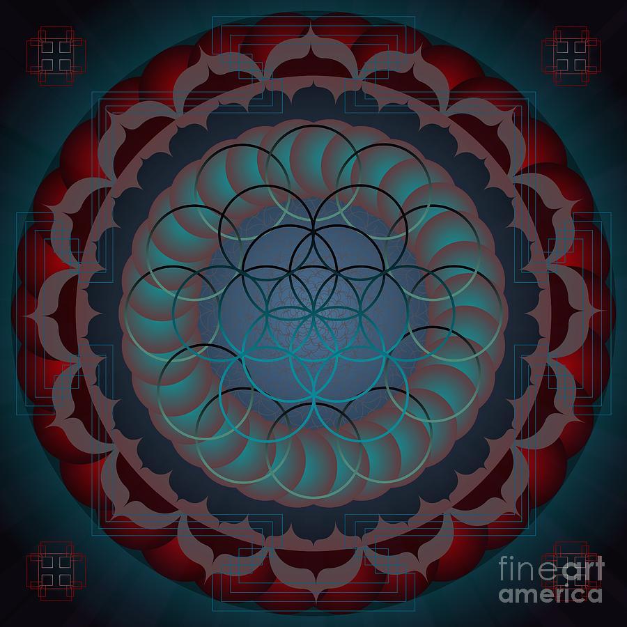 Digital Digital Art - Santosha 2012 by Kathryn Strick