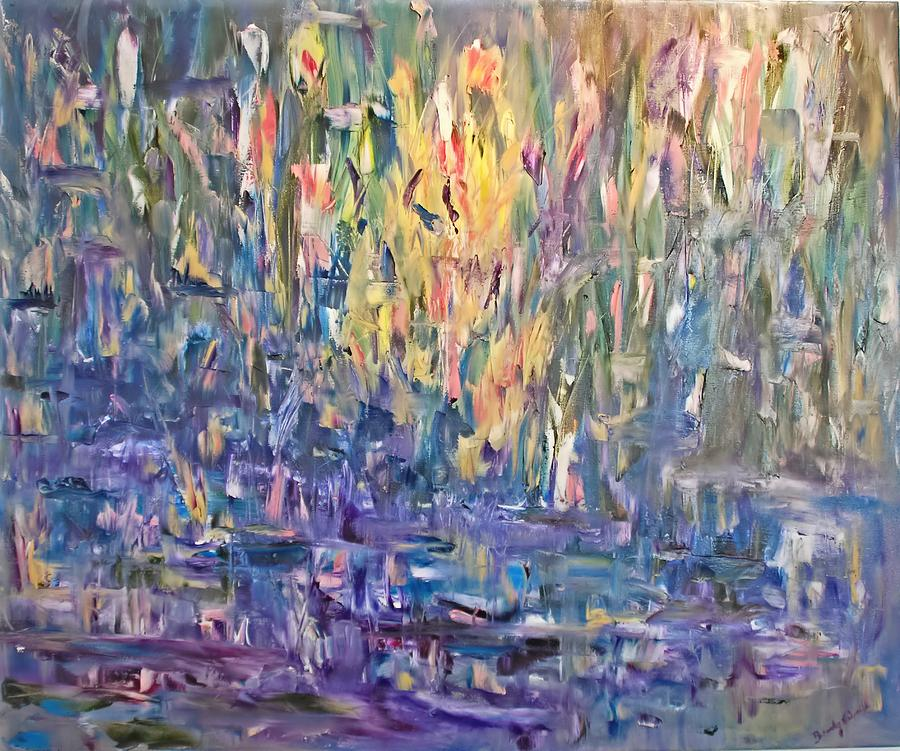Abstract Painting - Sarasota Bourne Pond by Beverly Smith