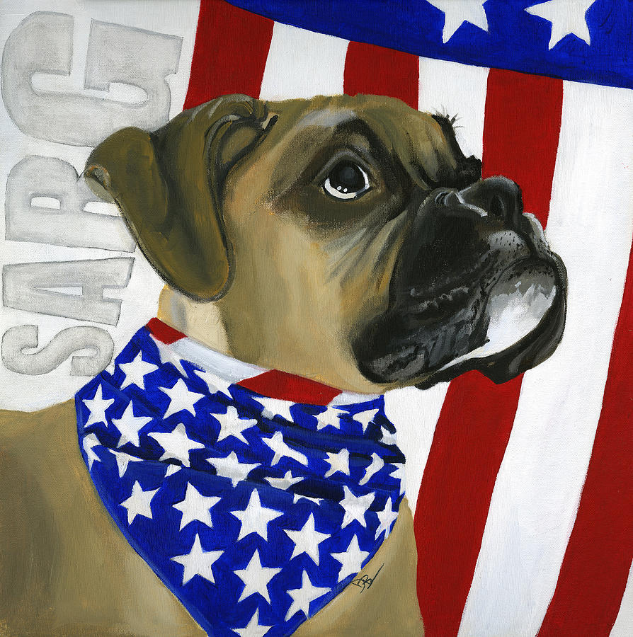 Patriotic Painting - Sarg by Debbie Brown