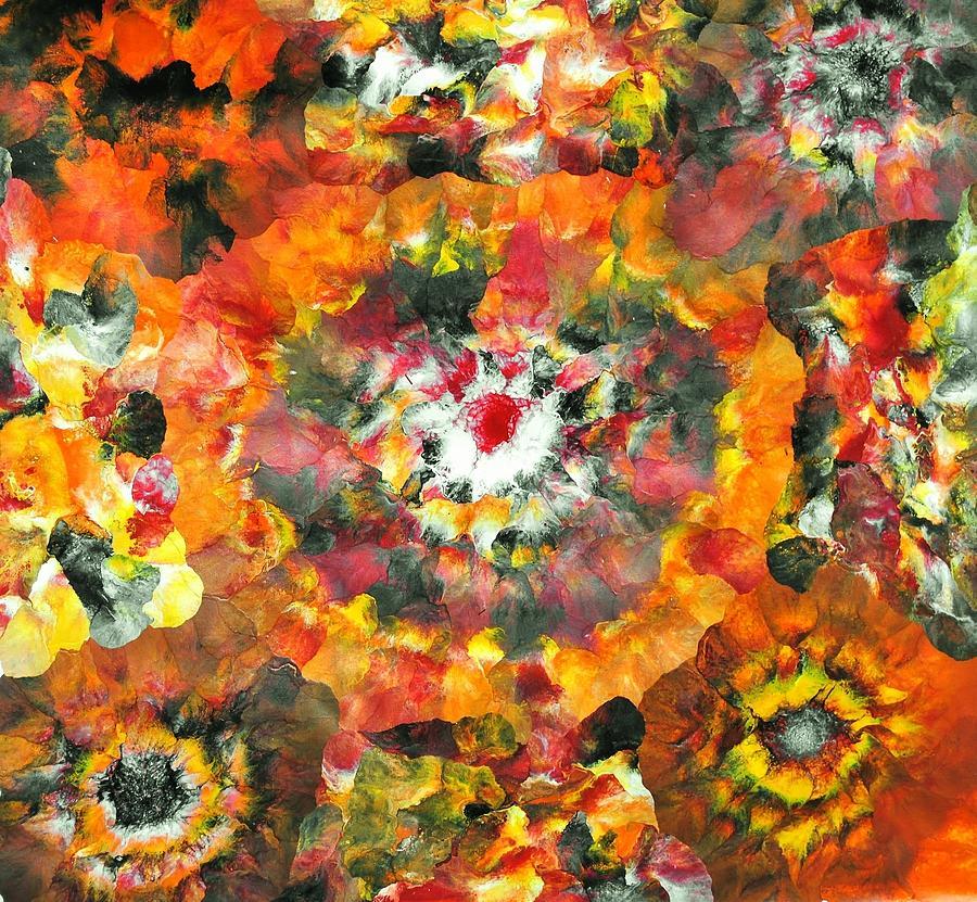 Floral Painting - Sarv Uttrav by Sumit Mehndiratta