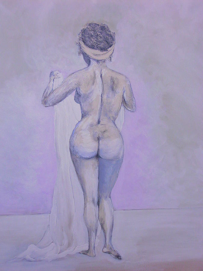 Bath Time Painting - Sassy Ass by Siobhan Lawson