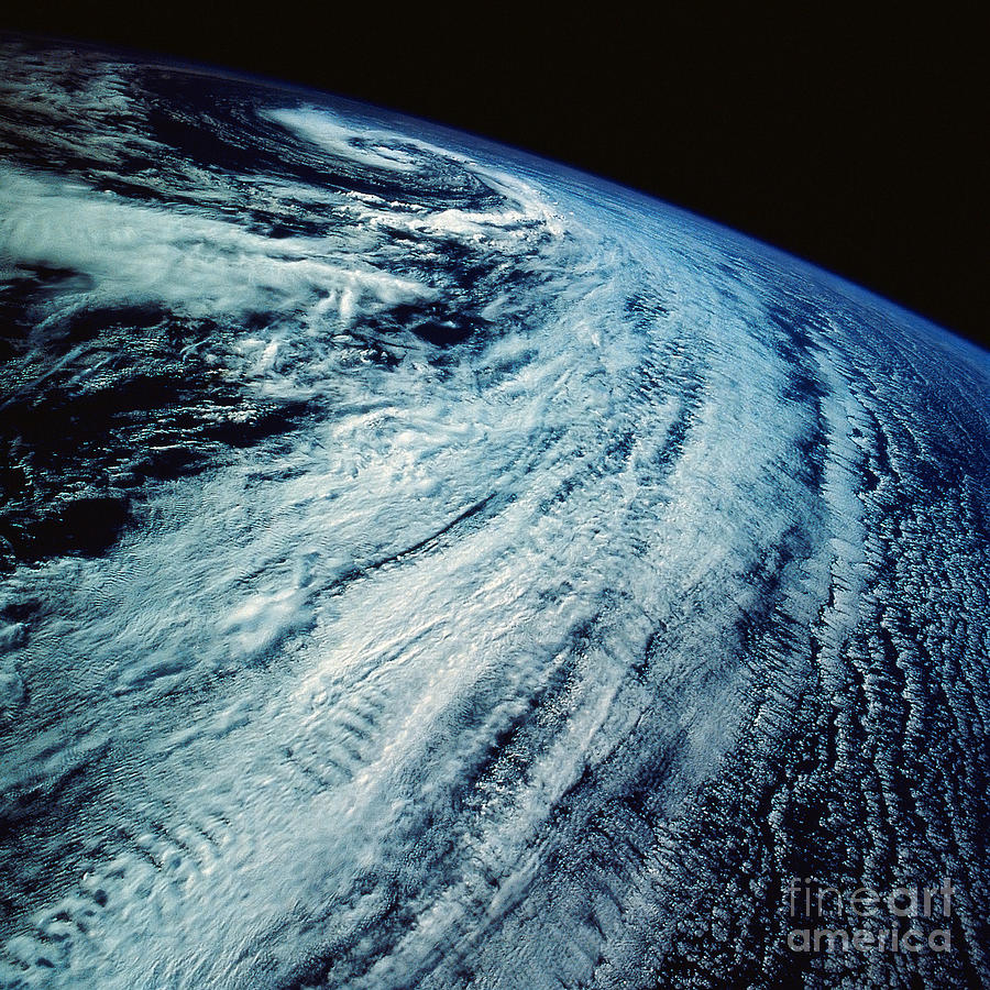 Color Image Photograph - Satellite Images Of Storm Patterns by Stocktrek Images