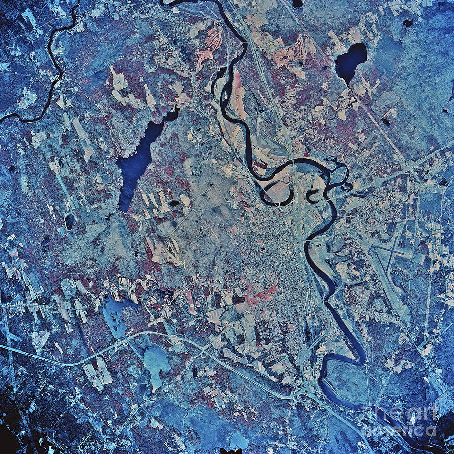 Color Image Photograph - Satellite View Of Concord, New by Stocktrek Images