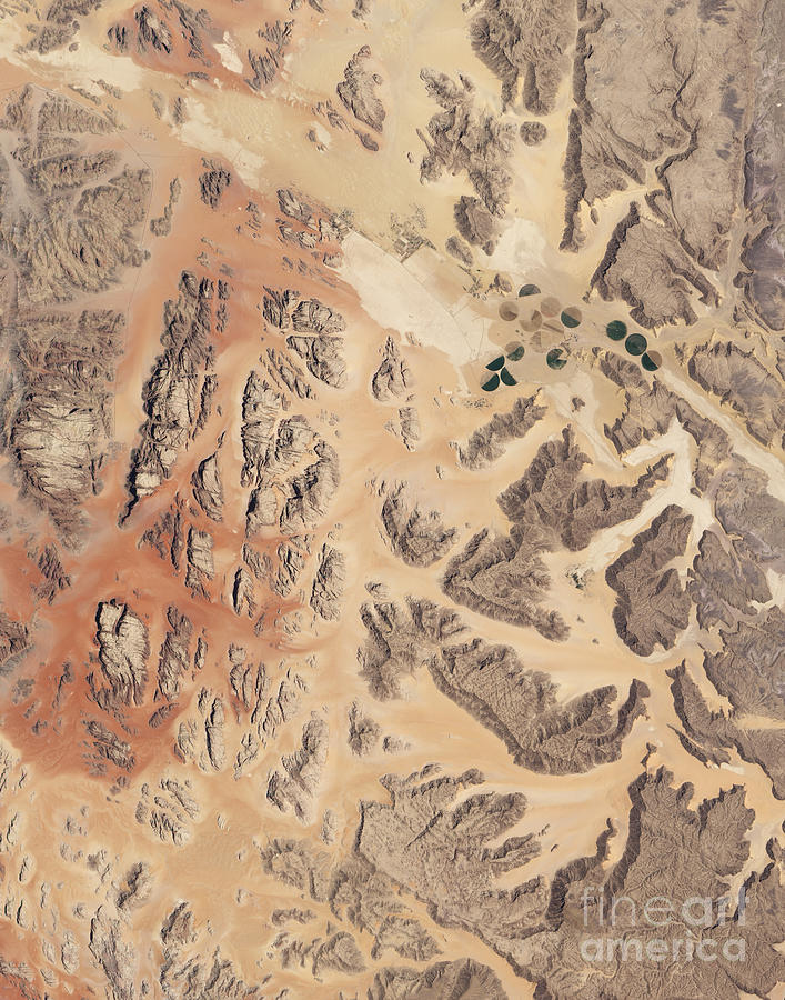 No People Photograph - Satellite View Of Wadi Rum by Stocktrek Images