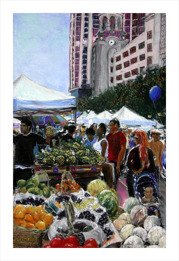 Market Pastel - Saturday Morning Market by Barry Rothstein